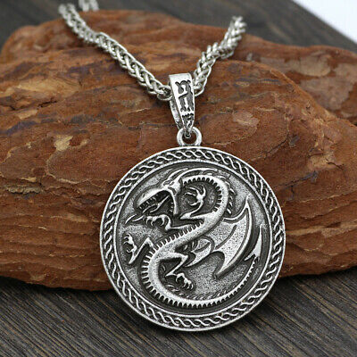 SILVER VIKING FENRIR Wolf Cross Pendant --- Norse/Medieval/Jewelry