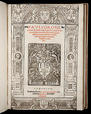 1524 OROSIUS History Against Pagans WORLD CHRONICLE Ancient ROME GREECE BABYLON