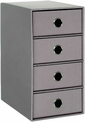 SOHO A4 Filing Storage Box with 4 Drawer - Taupe