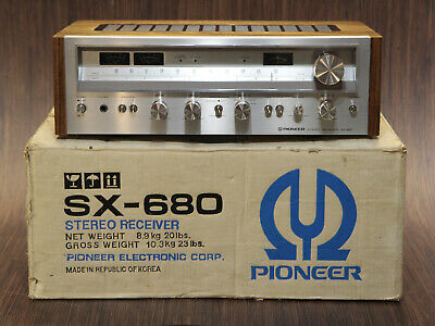 Pioneer Sx-680 Vintage Stereo Receiver - Electronically Restored - Original Box