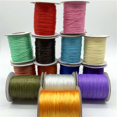 10yds 0.5mm Waxed Cotton Cord Waxed Thread Cord String Strap Rope Jewelry Making