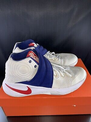 half off 0572c 9f184 NIKE KYRIE 2 Team USA Olympic 819583 164 Premium Basketball Shoes Size 10.5