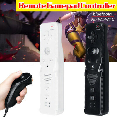 2in1 Motion Plus Remote Nunchuck Game Controller For Nintendo Wii Wii U