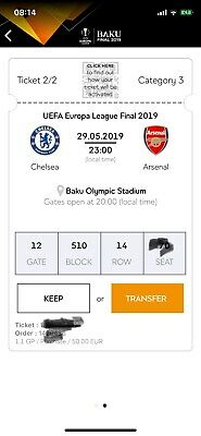2 Tickets Package Euro League Final Chelsea-Arsenal - Category 3