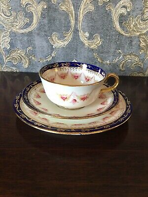 Antique Royal Albert Crown China Tea Trio Cup Saucer Plate Cabinet Set Rare 2252