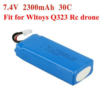 Rechargeable 7.4V 2300mAh Li-Po Battery Pack Plug for Kids RC Hobby Toy Drones