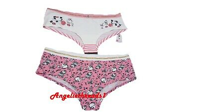 8e115d6fe7f7 Primark Ladies Beauty & The Beast 2 PK Hipsters Underwear Breif Knicker New  BNWT