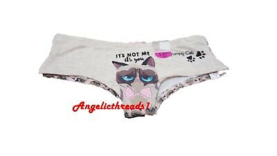77a8f7c22bc1 OFFICIAL GRUMPY CAT® Ladies KNICKERS, Socks, Panties Girls HIPSTERS ...
