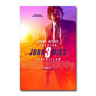 John Wick 3 Movie Art Silk Canvas Wall Decor Print 13x20 24x36 inch