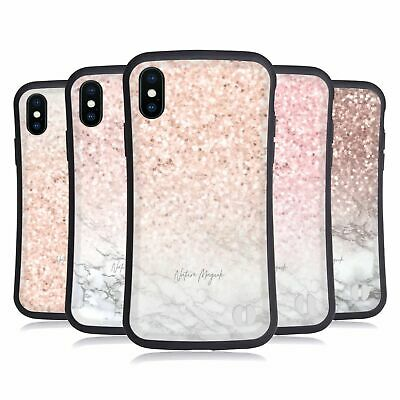 NATURE MAGICK ROSE GOLD MARBLE GLITTER HYBRID CASE FOR APPLE iPHONES PHONES