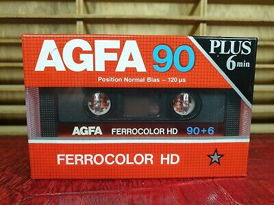 AGFA FERROCOLOR HD 90 + 6 : 1985 : Made in Germany : NEW & SEALED
