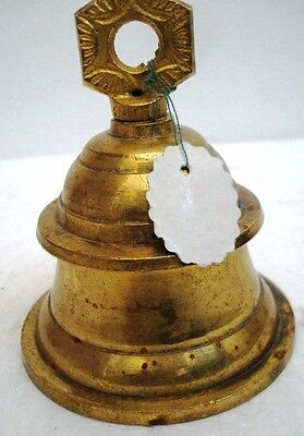 BRASS Bell - Marine / Religion / Spiritual - Height: 5.75 - Weight: 0.65 (1391)