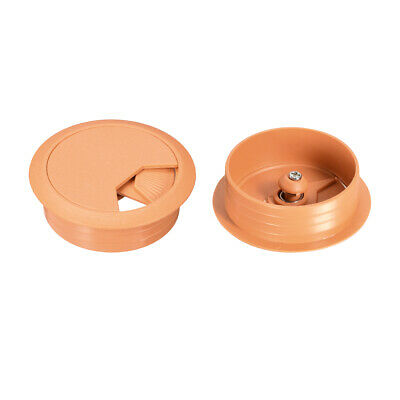"Cable Hole Cover, 2"" Plastic Desk Grommet for Wire Organizer, 10Pcs (Orange)"