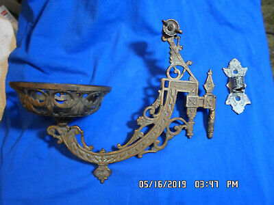 Antique B&H Very Ornate Wall Sconce With Wall Mount Pat'd June 1881