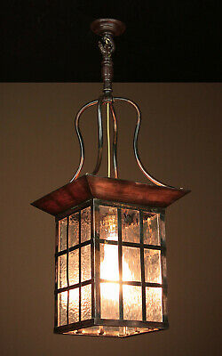 Antique Arts & Crafts Style Copper Lantern or Porch Light.