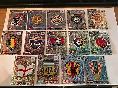 Panini World Cup France 98, badge/emblem stickers Various Holo Badges