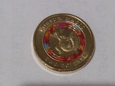2017 POSSUM MAGIC $2 Coin - Red Muti Colour - Low Mintage
