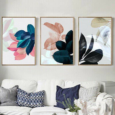 3Pcs Canvas Huge Modern Wall Art Oil Painting Picture Print Unframed Home Decor