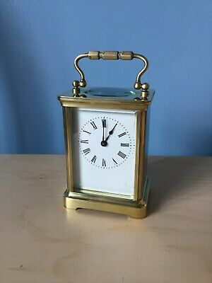 Antique French couaillet frères  Brass Carriage Clock with Key