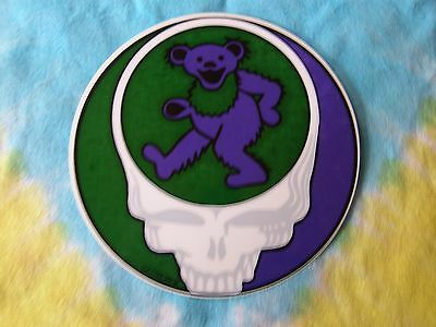 Grateful Dead Steal Your Face Dancing Bear 5 Inch Inside Window Sticker