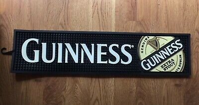 Guinness Extra Stout Bar Spill Mat Black PVC Rubber Barware Dublin Ireland New
