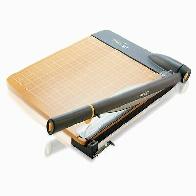 Westcott 12-Inch Trimair Titanium Wood Guillotine Paper Trimmer with Anti-Mic...