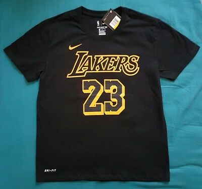 0a695a9fe Lakers los angeles 2018 2019 lebron james num 23 nike city edition nba size  M