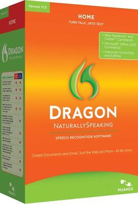 Nuance Dragon Naturally Speaking Home 11.5 - Disc only Brand New AUS Stock!