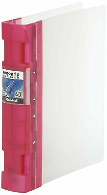 Guildhall Glx Ergogrip Frosted Ring Binder - Raspberry
