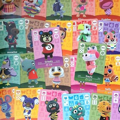 US Amiibo - Animal Crossing - Series 4 Cards Pick Your Own 351-400 Nintendo 3DS