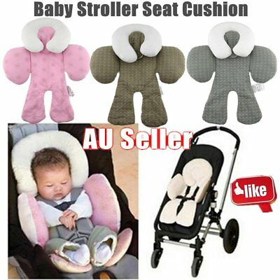 Safety Baby Kid Stroller Pram Pushchair Two Sided Car Seat Cushion Pad Liner Q0