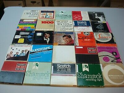 """LOT OF 25 mixed Brand 7"""" Reel-to-Reel Magnetic Recording Tapes"""