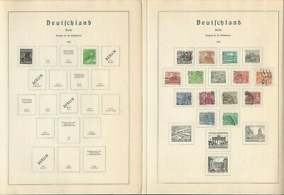 Germany Stamp Collection 1948-55 on 11 Lighthouse Pages, Berlin, DKZ