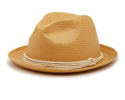 sale retailer c6be3 fcfcf Tommy Bahama Mens Paper Toyo Fedora Hat New Without Tags (Natural)