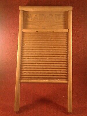 Vintage Maid-Rite Columbus Washboard Co. Standard Family Size No. 2072