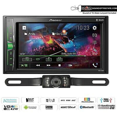 "Pioneer MVH-210EX 6.2"" Digital Media Receiver with License Plate Backup Camera"