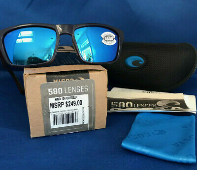 71082b4146 Costa Del Mar Hinano Polarized Hno104 Obmglp Sunglasses Navy Blue 580G  Glass New