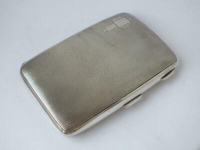 Good Art Deco Solid Sterling Silver Cigar Case 1936/ L 13.7 cm/ 183 g