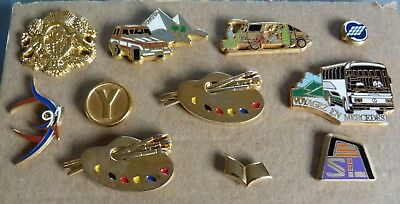 Beau Lot 12 Pins Pin's Theme Arthus Bertand Auto Sport Divers