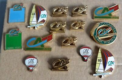 Beau Lot 15 Pins Pin's Theme Banque Credit Agricole