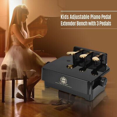 Piano Pedal Extender Bench for Kids Adjustable Height with 3 Pedals V7V3