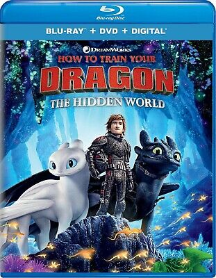 * HOW TO TRAIN YOUR DRAGON 3 Hidden World * Blu-Ray ONLY Like New - No Digital!
