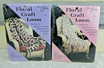 Lot of 2 New Berlin Company Floral Knitting Looms 2 Sizes VINTAGE New L@@K