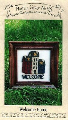 Welcome Home Punchneedle Pattern With Pre-Printed Cloth-Myrtle Grace