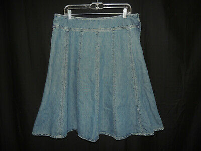 9aeb43ce8877 Size 14 Jones New York Signature Women's Knee-Length Denim Blue Jeans Skirt
