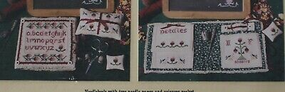 School Days Raspberry Needlebook and Accessories - by Keepsake Stitches