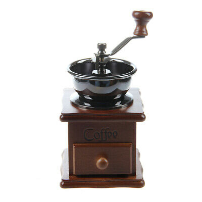 Mini Wooden Coffee Bean Spice Vintage Style hand grinder M3E1