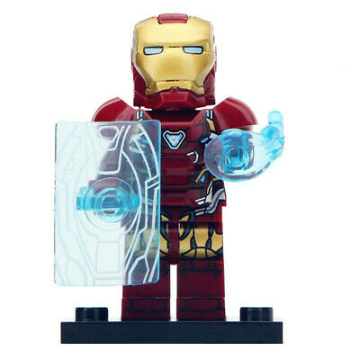 Ironman (Avengers End Game) - Marvel Lego Moc Minifigure, Includes Shield