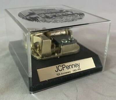Rare 90th Anniversary JC Penney Department Store Adv Paperweight Music Box