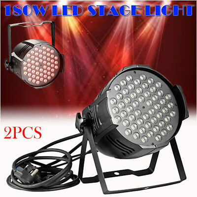 2 X 180W LED RGB Stage DJ KTV Disco Club Bar Party Light Par 54 DMX Show AU Plug